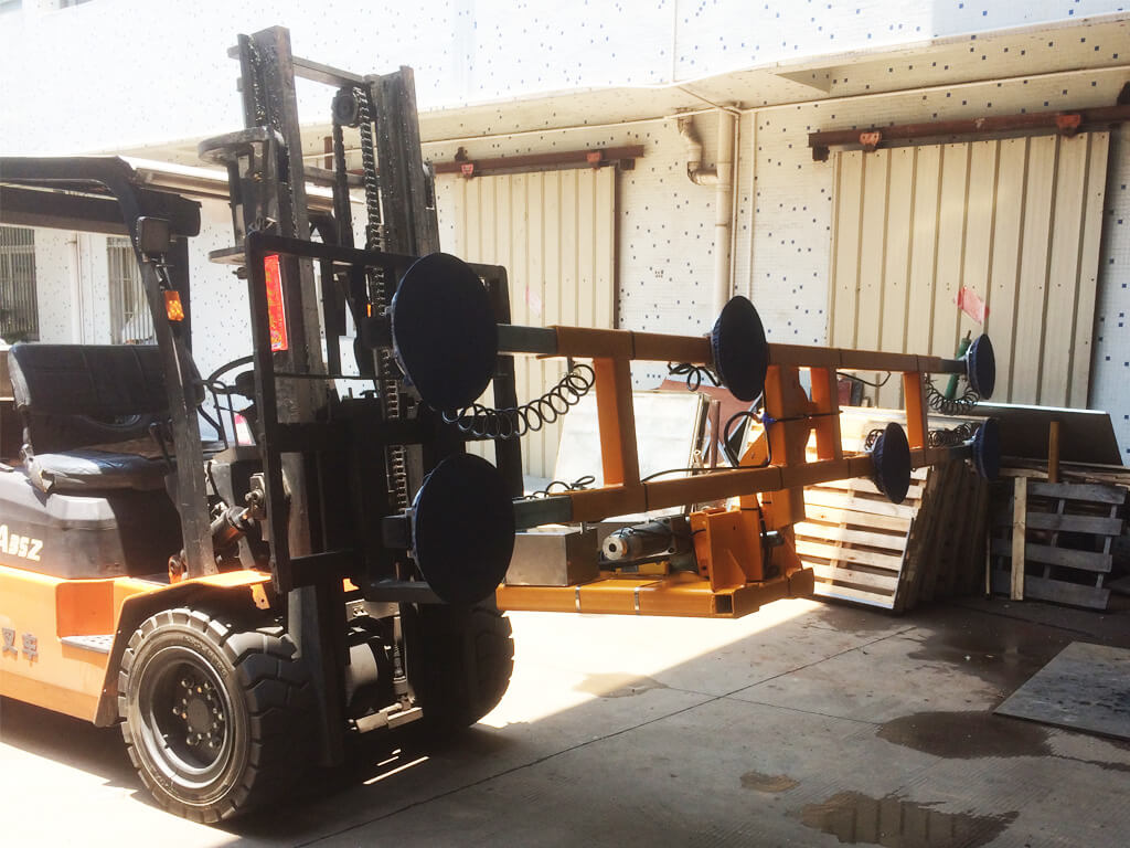 Glass Lifter Mounted On Forklift 5