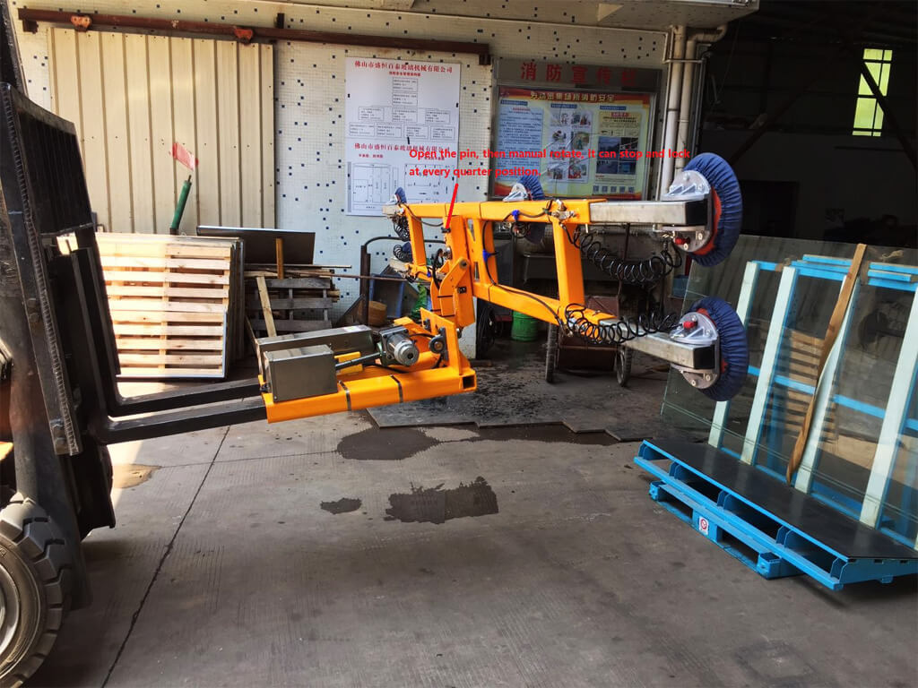 Glass Lifter Mounted On Forklift 6