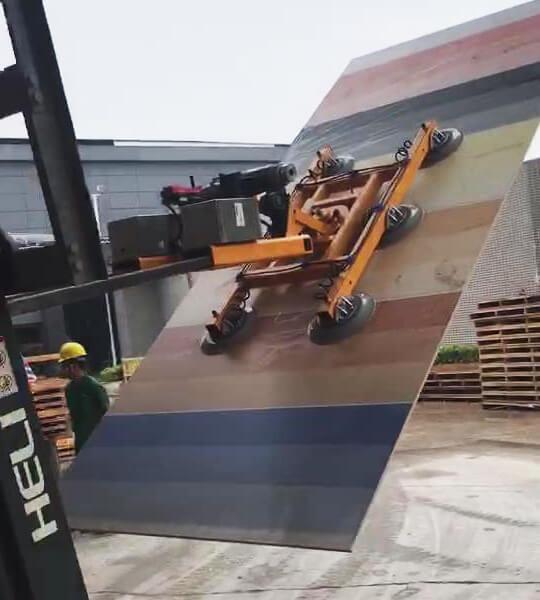 Slab Lifter Mounted On Forklift 2