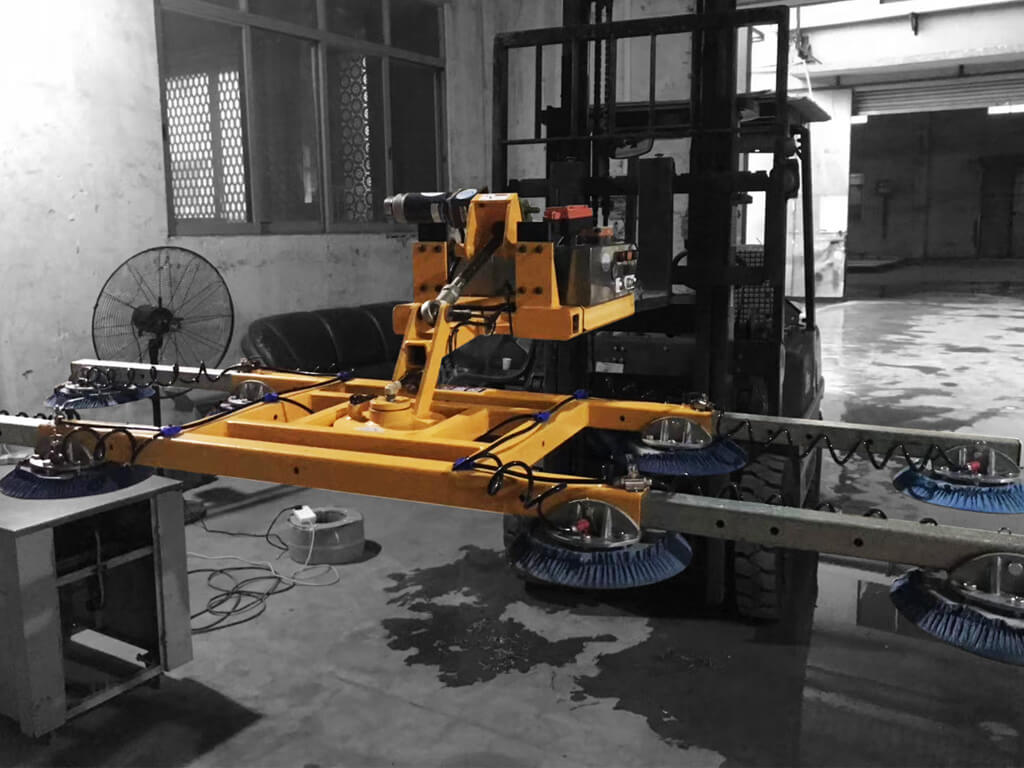 Slab Lifter Mounted On Forklift 4
